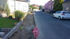 Rekonstrukce chodníku v centru obce
